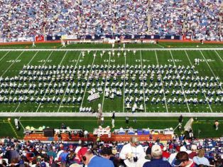 The 313 Member Hudson Band Performs for the Buffalo Bills vs Dolphins Game
