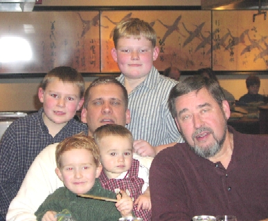 Mike, Jim and the Meisinger GrandKids