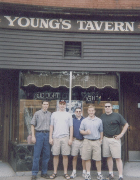 Don's Bachelor Party 1999 L to R - Nate Dogg, DonDon, Steve, Pat and Eric
